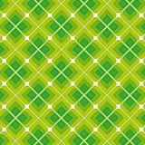 Groen Uitstekend Naadloos Patroon Royalty-vrije Stock Afbeeldingen