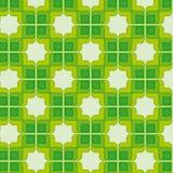 Groen Uitstekend Naadloos Patroon Royalty-vrije Stock Fotografie