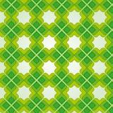 Groen Uitstekend Naadloos Patroon Royalty-vrije Stock Afbeelding