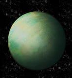 Groen Uranus in ruimte Stock Foto's