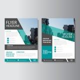 Groen Vector van de de Brochurevlieger van het jaarverslagpamflet het malplaatjeontwerp, de lay-outontwerp van de boekdekking, Ab Stock Fotografie