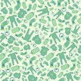 Groen vectorbaby naadloos patroon vector illustratie
