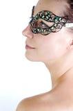 Groen Venetiaans masker Stock Foto's