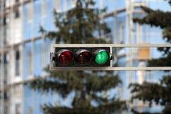 Groen verkeerslicht Royalty-vrije Stock Afbeeldingen
