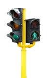 Groen verkeerslicht royalty-vrije stock afbeelding