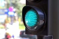 Groen verkeerslicht in Saigon Royalty-vrije Stock Afbeelding