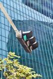 Groen verkeerslichtsignaal Singapore Close-up stock fotografie