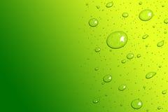Groen vers en Geel het malplaatje van waterdalingen ontwerp als achtergrond Royalty-vrije Stock Afbeeldingen