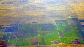 Groen versus de woestijn van Gobi Royalty-vrije Stock Afbeeldingen