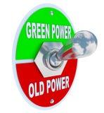 Groen versus Oude Macht - de Knevelschakelaar van de Energie royalty-vrije illustratie