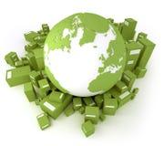 Groen vervoer Atlantische Oceaan Stock Afbeeldingen