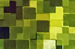 Groen vierkantenpatroon Stock Fotografie