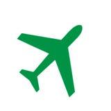 Groen vliegtuig vector illustratie