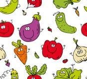 Groen voedselpatroon vector illustratie