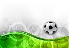 Groen voetbal stock illustratie