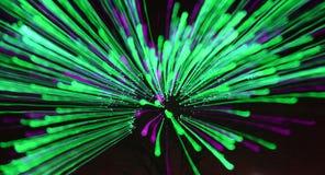 Groen vuurwerk Royalty-vrije Stock Foto's