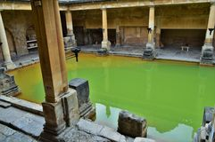 Groen Water in Roman Baths Stock Fotografie