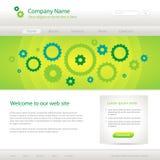 Groen website creatief malplaatje Royalty-vrije Stock Afbeelding