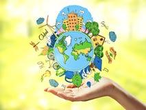Groen wereldconcept Stock Afbeeldingen