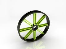 Groen wiel Royalty-vrije Illustratie