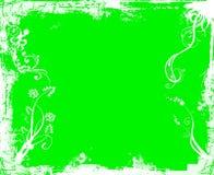 Groen wit grungeframe Stock Afbeeldingen