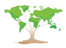 Groen wold of ecologieaardeconcept Royalty-vrije Stock Afbeelding