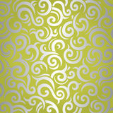 Groen & zilveren het glanzen uitstekend behangontwerp Royalty-vrije Stock Afbeelding