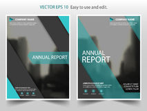 Groen zwart abstract Vector van de de Brochurevlieger van het jaarverslagpamflet het malplaatjeontwerp, de lay-outontwerp van de  Stock Fotografie