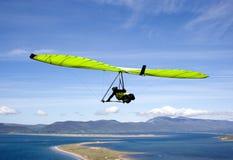 Groen zweefvliegtuig. royalty-vrije stock afbeelding