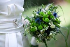Groenachtig blauw boeket - Huwelijk in de zomer royalty-vrije stock afbeelding