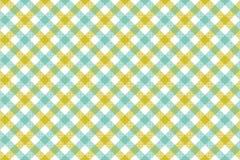 Groenachtig blauw de textuur van de controle diagonaal stof naadloos klopje als achtergrond stock illustratie