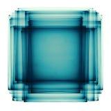 Groenachtig blauw sandwichvierkant Royalty-vrije Stock Foto