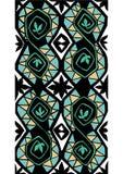 Groenachtig blauw Zwart wit Royalty-vrije Stock Afbeeldingen