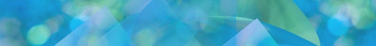 Groenachtig blauwe het Webbanner van het aqua abstracte panorama stock afbeeldingen