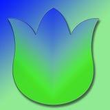 Groenachtig blauwe Tulp Vector Illustratie