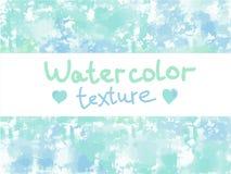 Groenachtig blauwe waterverftextuur Royalty-vrije Stock Foto