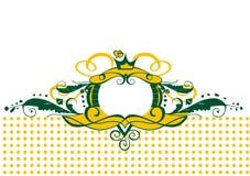 Groenachtig geel grensframe vector illustratie