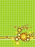 Groenachtig gele abstractie met cirkels vector illustratie