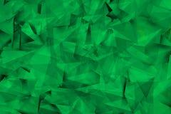 Groenachtige achtergrond met hoeken en schaduwen Royalty-vrije Stock Afbeelding