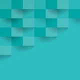 Groenachtige blauwe geometrische vectorachtergrond Stock Afbeelding
