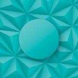 Groenachtige blauwe geometrische vectorachtergrond Stock Foto