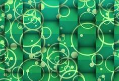 Groenachtige 3d tegenover tweede stock illustratie