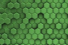 Groenachtige zilveren achtergrond met textuur van zeshoeken Royalty-vrije Stock Fotografie