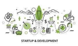 Groenconcept opstarten en ontwikkelingsproject vector illustratie