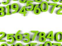 Groene aantallenachtergrond Stock Afbeeldingen