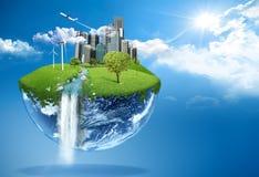 Groene aarde royalty-vrije illustratie