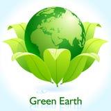 Groene Aarde - bescherm Onze Planeet Stock Foto