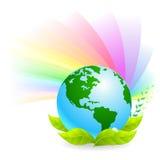 Groene Aarde - bescherm Onze Planeet Stock Afbeelding