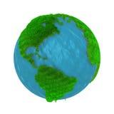 Groene Aarde, die met gras wordt behandeld Stock Afbeeldingen