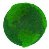 Groene Aarde, die met gras wordt behandeld Royalty-vrije Stock Foto